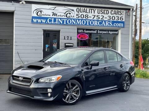 2017 Subaru WRX for sale at Clinton MotorCars in Shrewsbury MA