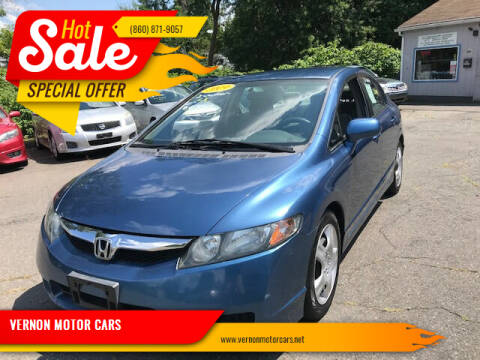 2011 Honda Civic for sale at VERNON MOTOR CARS in Vernon Rockville CT
