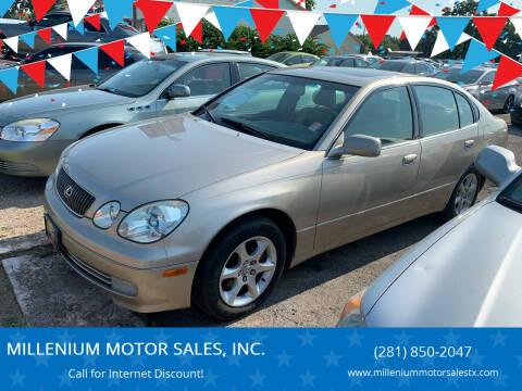 2001 Lexus GS 300 for sale at MILLENIUM MOTOR SALES, INC. in Rosenberg TX