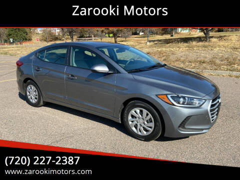 2017 Hyundai Elantra for sale at Zarooki Motors in Englewood CO