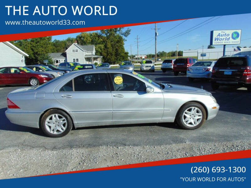2003 Mercedes-Benz S-Class for sale at THE AUTO WORLD in Churubusco IN