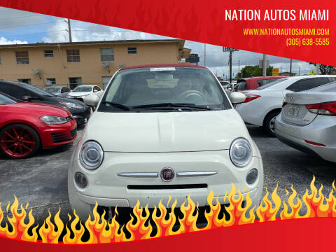 2013 FIAT 500c for sale at Nation Autos Miami in Hialeah FL