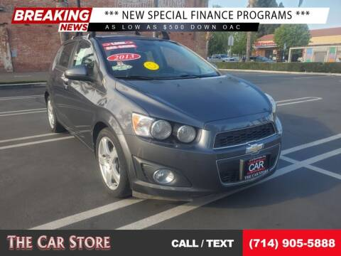 2013 Chevrolet Sonic for sale at The Car Store in Santa Ana CA