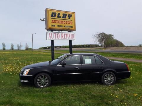 2008 Cadillac DTS for sale at OLBY AUTOMOTIVE SALES in Frederic WI