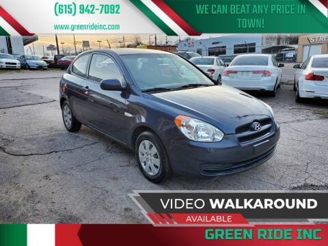 2011 Hyundai Accent for sale at Green Ride Inc in Nashville TN