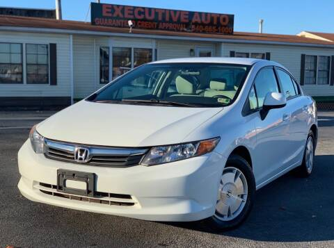 2012 Honda Civic for sale at Executive Auto in Winchester VA
