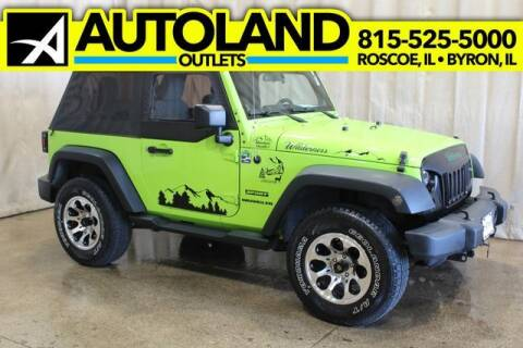 2012 Jeep Wrangler for sale at AutoLand Outlets Inc in Roscoe IL