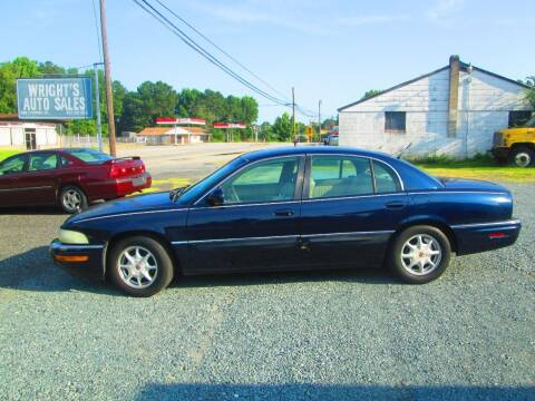 2002 Buick Park Avenue for sale at Wright's Auto Sales in Lancaster SC
