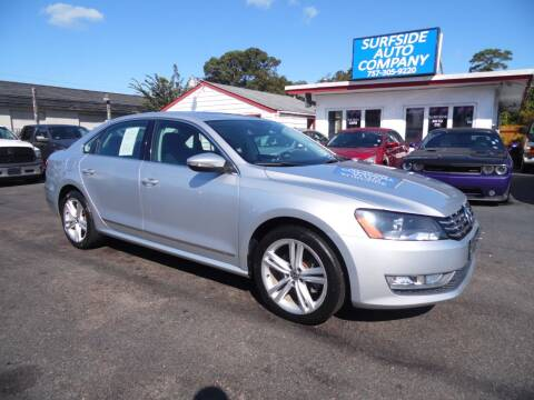 2012 Volkswagen Passat for sale at Surfside Auto Company in Norfolk VA