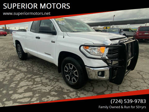 2015 Toyota Tundra for sale at SUPERIOR MOTORS in Latrobe PA