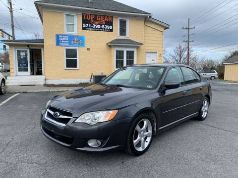 2009 Subaru Legacy for sale at Top Gear Motors in Winchester VA