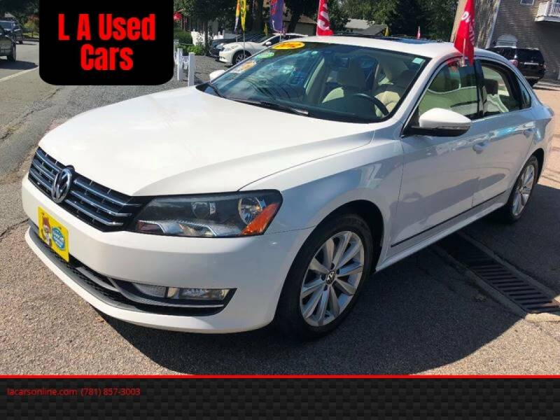 2012 Volkswagen Passat for sale at L A Used Cars in Abington MA