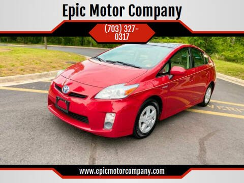 2010 Toyota Prius for sale at Epic Motor Company in Chantilly VA