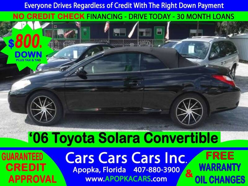 2006 Toyota Camry Solara for sale at CARS CARS CARS INC in Apopka FL