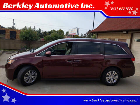 2016 Honda Odyssey for sale at Berkley Automotive Inc. in Berkley MI