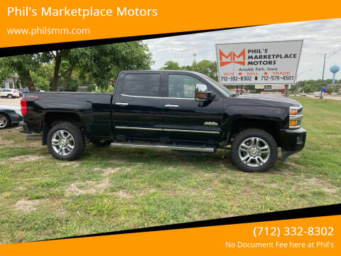 2018 Chevrolet Silverado 2500HD for sale at Phil's Marketplace Motors in Arnolds Park IA