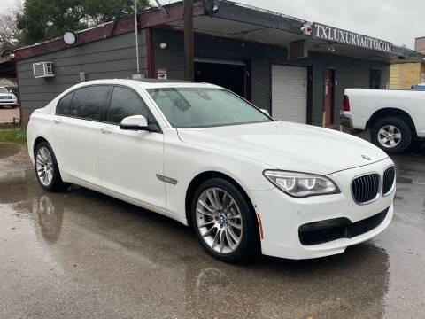 2014 BMW 7 Series for sale at Texas Luxury Auto in Houston TX