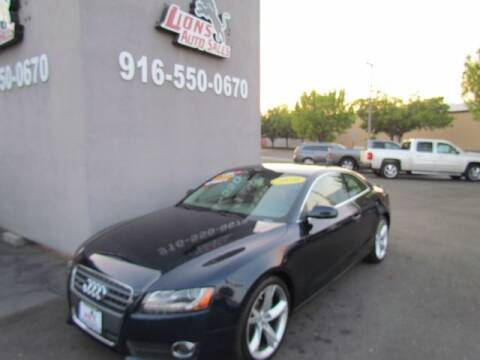 2010 Audi A5 for sale at LIONS AUTO SALES in Sacramento CA