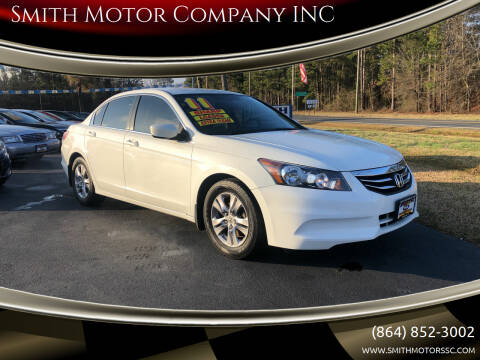 2011 Honda Accord for sale at Smith Motor Company INC in Mc Cormick SC
