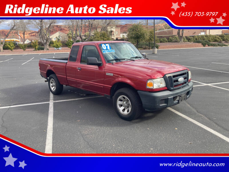 2007 Ford Ranger for sale at Ridgeline Auto Sales in Saint George UT