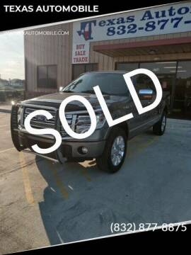 2013 Ford F-150 for sale at TEXAS AUTOMOBILE in Houston TX