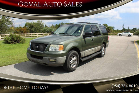 2003 Ford Expedition for sale at Goval Auto Sales in Pompano Beach FL