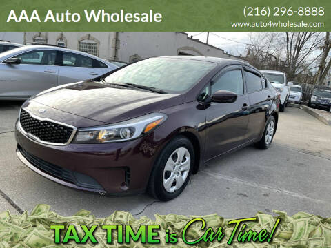 2017 Kia Forte for sale at AAA Auto Wholesale in Parma OH