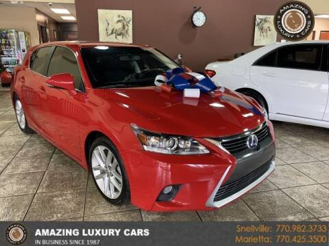 2015 Lexus CT 200h for sale at Amazing Luxury Cars in Snellville GA