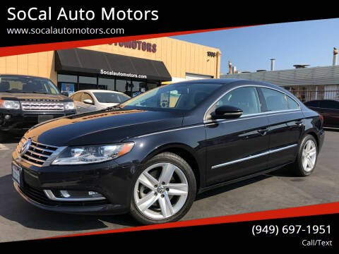 2015 Volkswagen CC for sale at SoCal Auto Motors in Costa Mesa CA