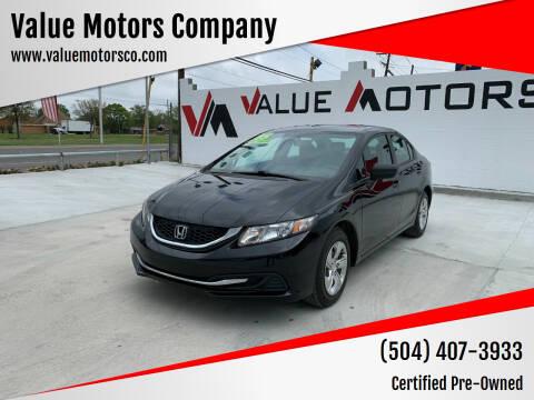 2015 Honda Civic for sale at Value Motors Company in Marrero LA