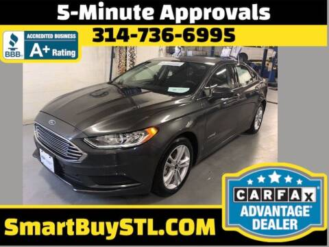 2018 Ford Fusion Hybrid for sale at Smart Buy Car Sales in St. Louis MO