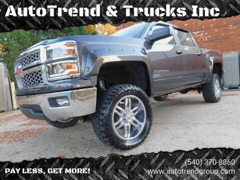 2015 Chevrolet Silverado 1500 for sale at AutoTrend & Trucks Inc in Fredericksburg VA