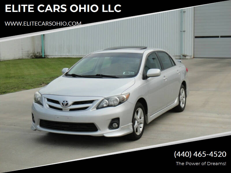 2011 Toyota Corolla for sale at ELITE CARS OHIO LLC in Solon OH