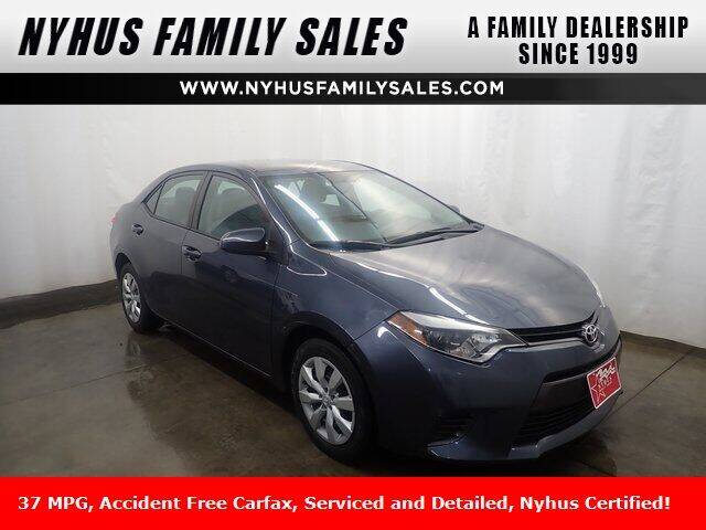 2016 Toyota Corolla for sale at Nyhus Family Sales in Perham MN