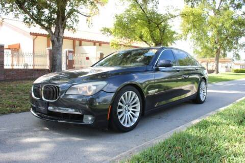 2012 BMW 7 Series for sale at Imperial Capital Cars Inc in Miramar FL