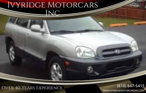 2006 Hyundai Santa Fe for sale at Ivyridge Motorcars Inc in Ottsville PA