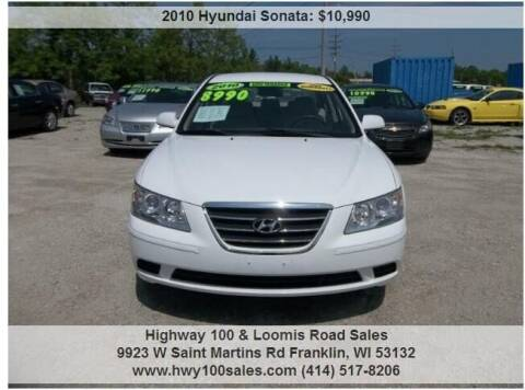2010 Hyundai Sonata for sale at Highway 100 & Loomis Road Sales in Franklin WI