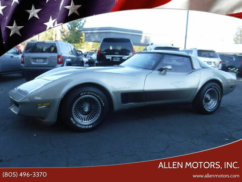 1982 Chevrolet Corvette for sale at Allen Motors, Inc. in Thousand Oaks CA