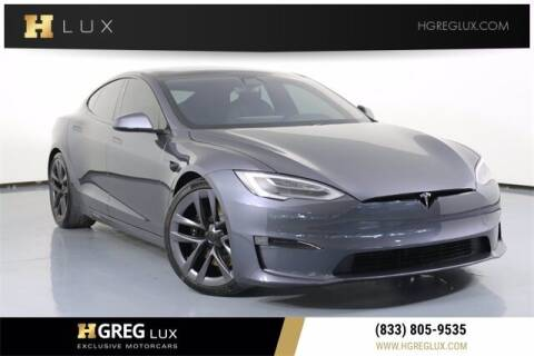 2021 Tesla Model S for sale at HGREG LUX EXCLUSIVE MOTORCARS in Pompano Beach FL