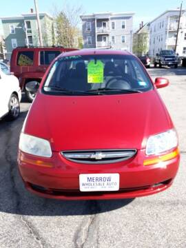 2006 Chevrolet Aveo for sale at MERROW WHOLESALE AUTO in Manchester NH