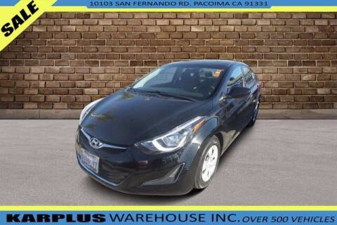 2016 Hyundai Elantra for sale at Karplus Warehouse in Pacoima CA