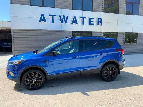 2019 Ford Escape for sale at Atwater Ford Inc in Atwater MN