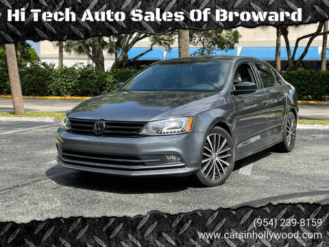2016 Volkswagen Jetta for sale at Hi Tech Auto Sales Of Broward in Hollywood FL