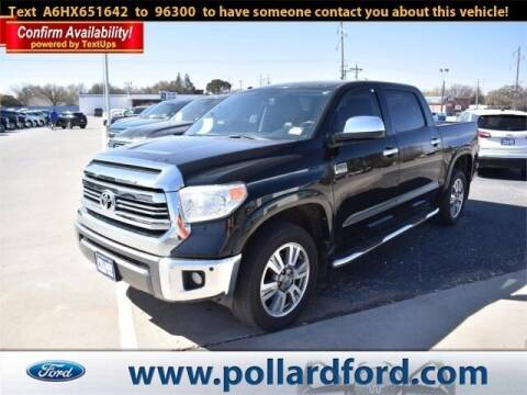2017 Toyota Tundra for sale at South Plains Autoplex by RANDY BUCHANAN in Lubbock TX