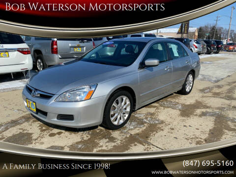2007 Honda Accord for sale at Bob Waterson Motorsports in South Elgin IL