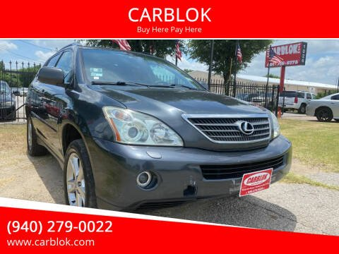 2006 Lexus RX 400h for sale at CARBLOK in Lewisville TX
