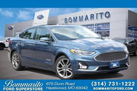 2019 Ford Fusion Hybrid for sale at NICK FARACE AT BOMMARITO FORD in Hazelwood MO