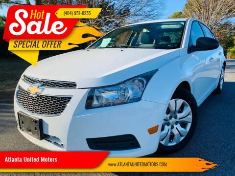 2013 Chevrolet Cruze for sale at Atlanta United Motors in Buford GA