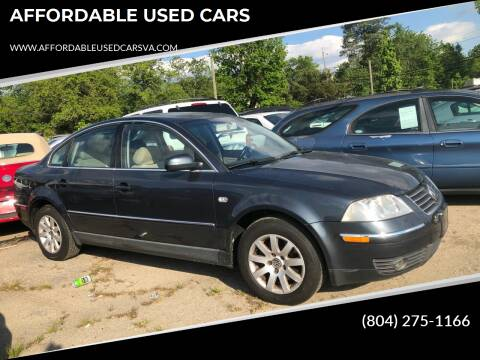 2003 Volkswagen Passat for sale at AFFORDABLE USED CARS in Richmond VA
