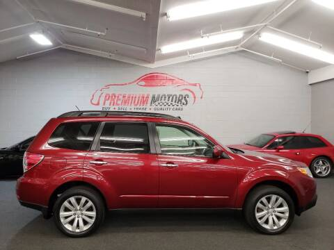 2013 Subaru Forester for sale at Premium Motors in Villa Park IL